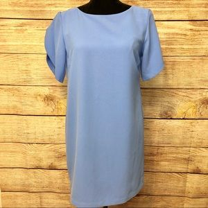 French Connection Tunic Dress in Blue Arrow Crepe